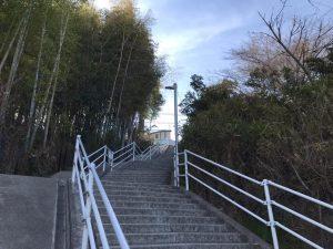 ハルヒの聖地 登校中の階段