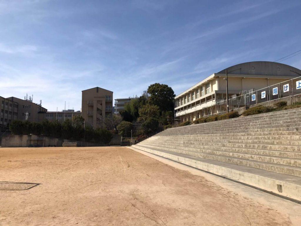 ハルヒの聖地 西宮市立上ヶ原中学校